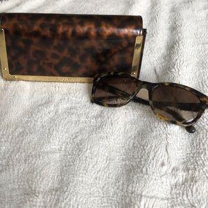 Tory Burch tortoiseshell glasses + case